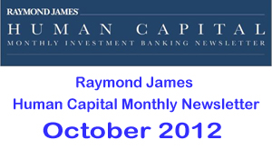 Raymond James HCM Newsletter Oct 2012