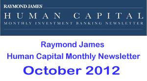 Raymond James HCM Newsletter Oct 2012